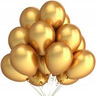Balony metaliczne ZŁOTE 18 40 urodziny ślub 10szt