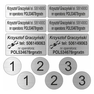 Zestaw naklejek na drona - numer operatora