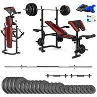 Xylo siłownia 123 kg zestaw ŁAWKA+GRYFY+OBCIĄŻENIA