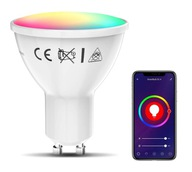 ŻARÓWKA LED GU10 - SMART WIFI - RGB - 5.5W - TUYA