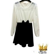 Suknia czarno-biała koronka wesele święta