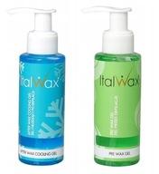 2x żel chłodzący ITALWAX przed i po depilacji