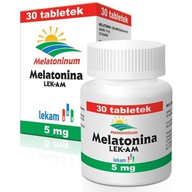 Melatonina Lek-Am 5mg pomaga zasnać sen nerwy 30x