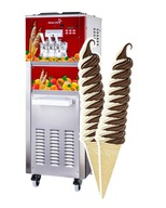 Maszyna Automat do Lodów świderki, kręcone