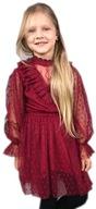 Elegancka świąteczna sukienka koronkowa 158/164
