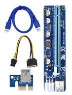 RISER PCI-E 1x-16x USB 3.0 MARKOWY MOLEX SATA