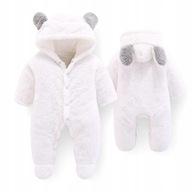 Kombinezon niemowlęcy uszy niedźwiedzia + spodnie