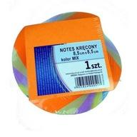 HIT kostka biurowa kolorowa kręcona NOTES kolorowy