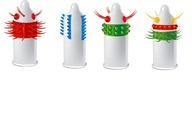 Zestaw Prezerwatyw EGZO wypustki KOLCE mix