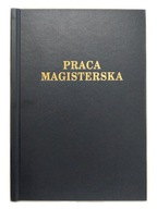 Okładka kanałowa AA 5mm praca magister czarna 1szt