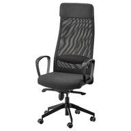 Fotel obrotowy Ikea odcienie szarości Markus