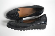 Andy vintage mokasyny skórzane 39 wsuwane buty