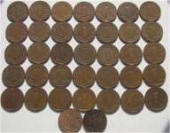 1 Reichspfennig 1937 1938 1939 B D E F J - Ładne