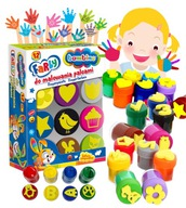 Farby do malowania palcami 12 kolorów Bambino