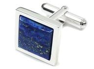 SP51C Spinki z lapis lazuli. Srebro rodowane.