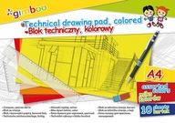 Blok techniczny A4 10 kart 150gsm mix kolorów