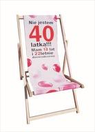 leżak z nadrukiem prezent 40 urodziny dla kobiety