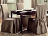 Pokrowce na krzesła domowe - długie