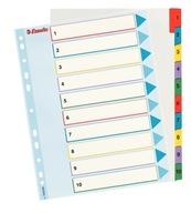 Przekładki numeryczne Esselte Mylar Maxi A4+ 10k.