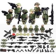 Wojsko Armia Ludziki Żołnierze 6szt+ramiona
