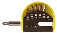 Zestaw bitów z uchwytem 7 szt. 39D350 TOPEX