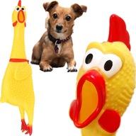 Gumowy Kurczak Piszcząca Zabawka Dla Psa Gryzak