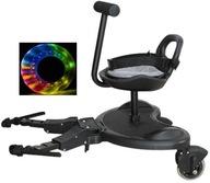 Dostawka do wózka z siedziskiem LED kółka