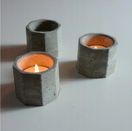 Świecznik na Tealight betonowy stojak Handmade