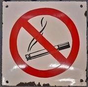 tablica emalia , wypukła PRL, Zakaz palenia
