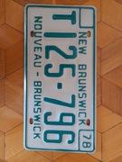 Nouveau Brunswick tablica rejestracyjna oryginal