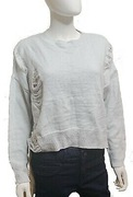 Sweter pastelowy z dziurami oversize vintage M/L