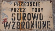 metalowa tablica PRL, blaszana