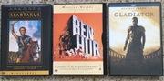 SPARTAKUS , BEN-HUR ,  GLADIATOR zestaw dvd
