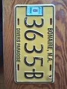 bonaire  tablica rejestracyjna oryginal