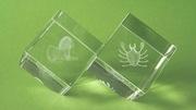 Szklane kostki ze znakami zodiaku: Lew i Rak
