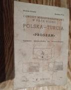 Program PRL Mecz Polska Turcja 1956r  Warszawa