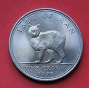 1 Crown 1970 r -   Kot    Isle of Man  stan I !!!
