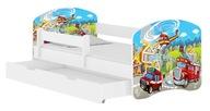 Łóżko dziecięce 180x80 szuflada materac BIAŁE ACMA