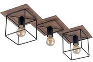 Nowość Nowoczesna lampa sufitowa COBA 3 brąz 24h