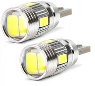 2x LED Żarówka W5W T10 6xSMD Postojowa Soczewka Pń