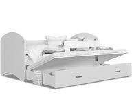 Łóżko wysuwane LUCKY P2 200x90 SZUFLADA + MATERAC