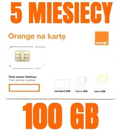 STARTER INTERNET NA KARTE ORANGE FREE 100 GB