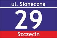 Tablica tabliczka adresowa z numerem domu 40X30 cm