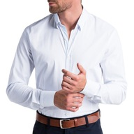 OMBRE PREMIUM Koszula męska basic K496 biała XXL
