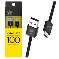 Kabel USB-C typ C POLSKI BANAN 100cm QC 3.0 Czarny