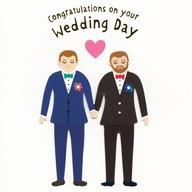Kartka 3D z kopertą PRIDE Gratulacje Ślub LGBT (G)