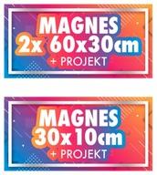 MAGNES na samochód reklama magnetyczna 2xBOK + TYŁ