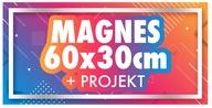 MAGNES na samochód 60x30 reklama magnetyczna + PRO