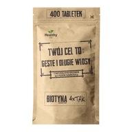 Biotyna 4 x Tak 400 Tabletek Twój Cel To - 400 x 2,5 mg Biotyny