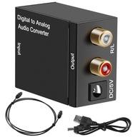 KONWERTER OPTYCZNY TOSLINK COAXIAL 2xCINCH RCA USB